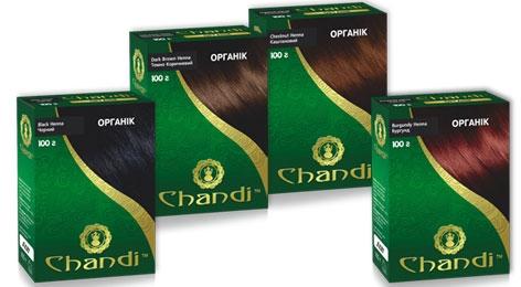 Натуральная краска для волос CHANDI на основе хны серия ОРГАНИК