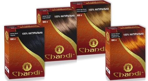 Натуральная краска для волос CHANDI на основе хны серия 100% натуральная
