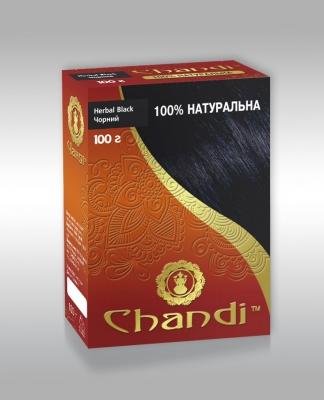 Чорна фарба для волосся на основі індійської хни